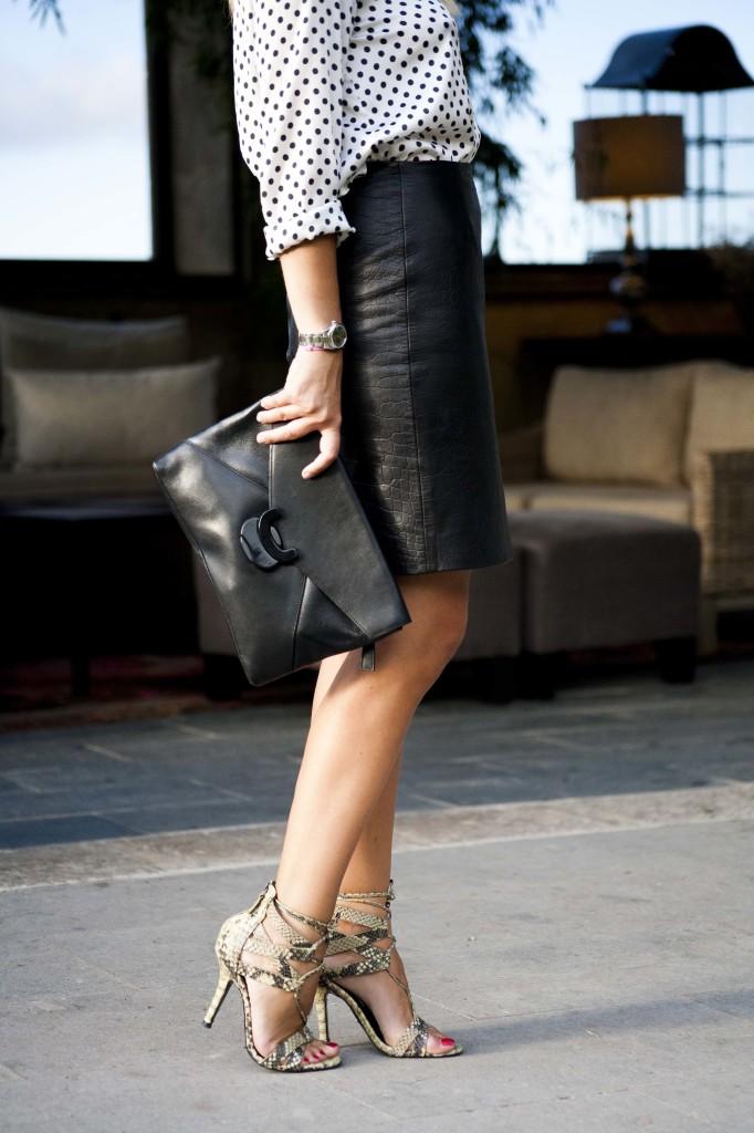 Marta Ibrahim - Leather skirt