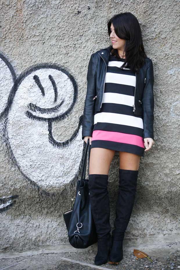 Marta Ibrahim BW Stripes & Pink 10