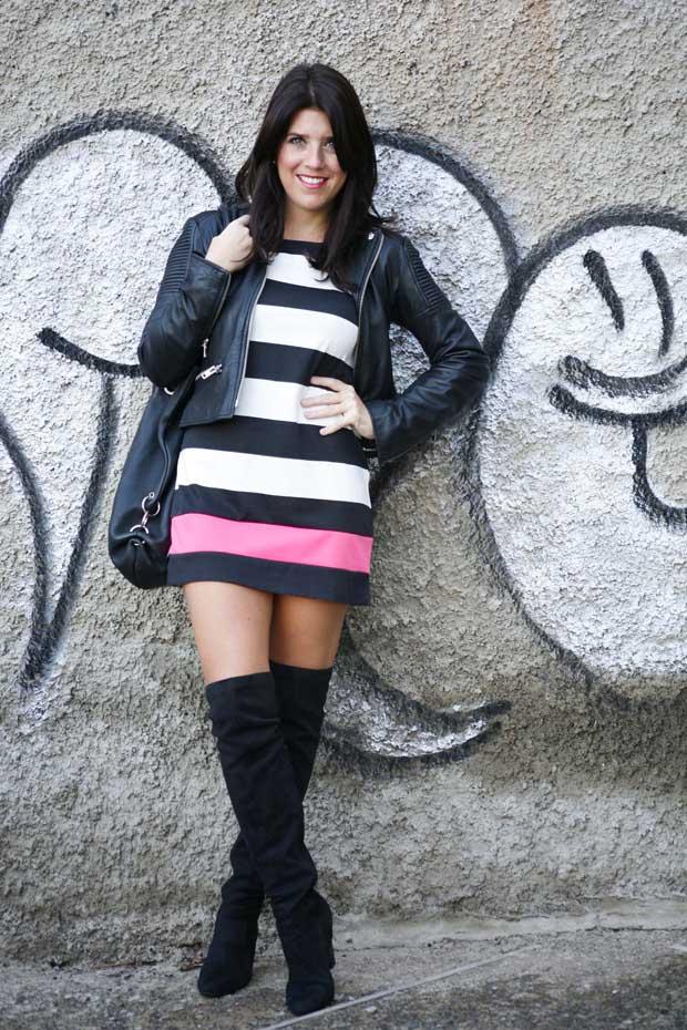 Marta Ibrahim BW Stripes & Pink 9